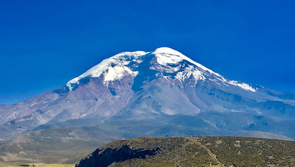 No climbing the popular Cotopaxi due to active volcanic activity so have to settle on the much more difficult. Chimborazo - 20,564 feet. That doesn't look so bad.